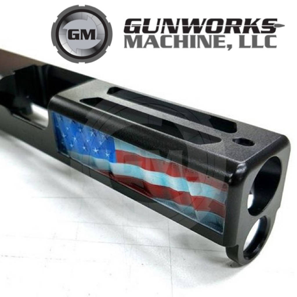 3D Old Glory Design, Glock 19, Hand Painted
